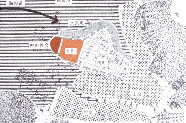 町建て当初1570年代の長崎の都市構造