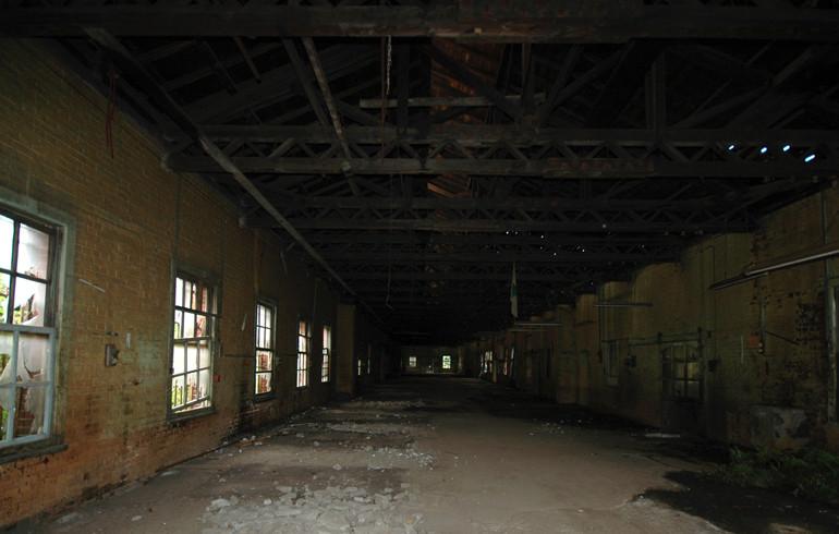 受刑者が労働していた工場内部