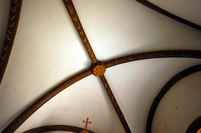 木目塗りの珍しい装飾