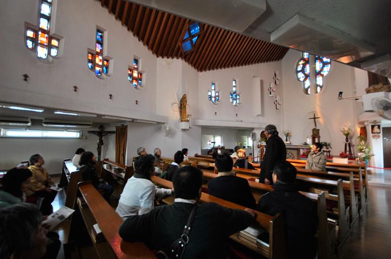 日本二十六聖人記念聖堂聖フィリッポ教会内部